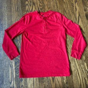 Primary Long Sleeve Red Henley